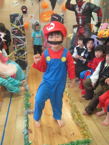 Mario bouncing his way up the runway!