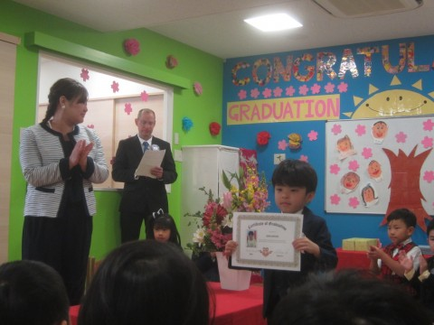 Receiving our certificates!